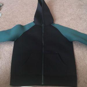 NWT Black & Green Zip Up Jacket Size 12-14Y